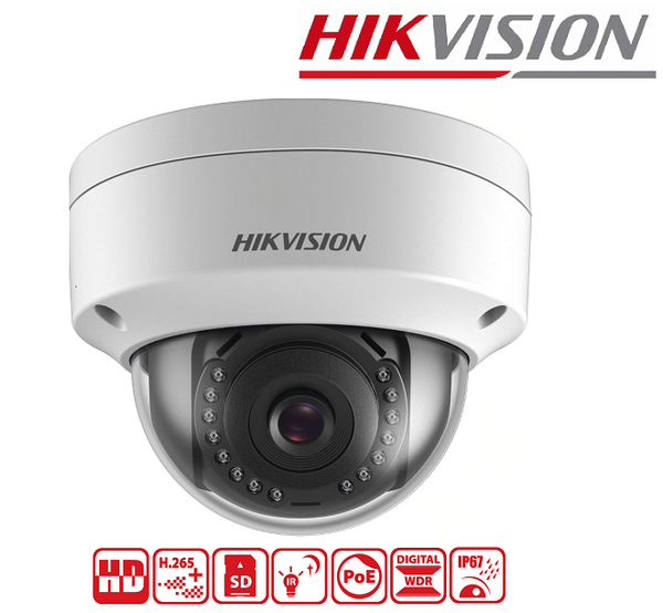 IPC HIKVISION 2MP, 2.8mm, IR 30M DS-2CD2121G0-I + SD up to 128GB