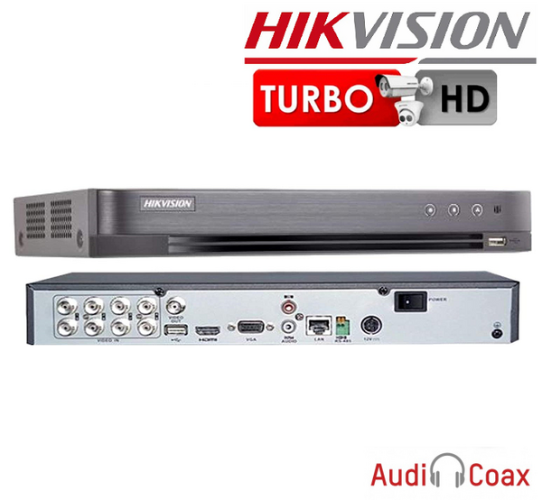 XVR 8 CHANEL HIKVISION 4MP lite, AUDIO HDTVI + ipc
