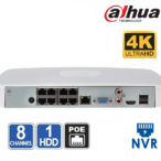 NVR 8 CHANEL Dahua NVR2108-8P-4KS2 - 8MP + 8xPoE