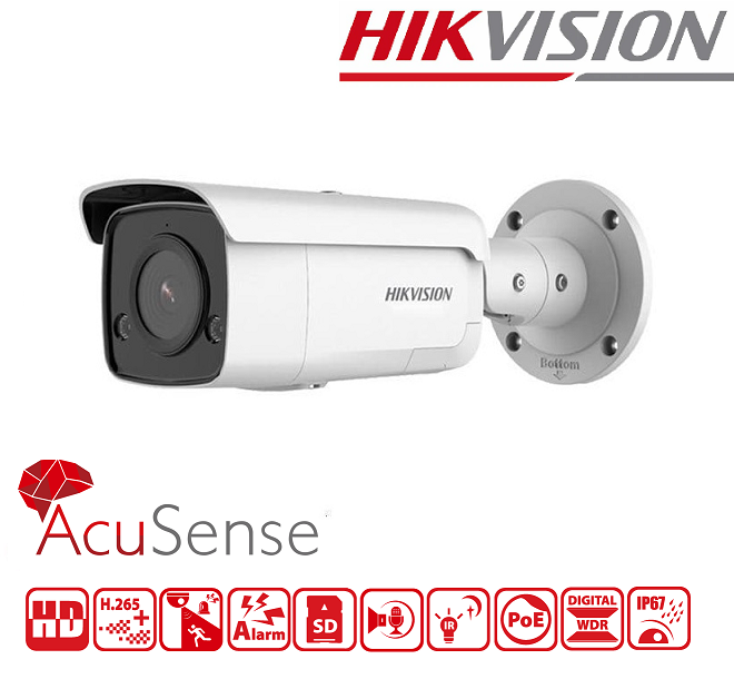 IPC HIKVISION 8MP, 2.8mm, IR 60M DS-2CD2T86G2-ISU/SL - 4K Ultra-HD